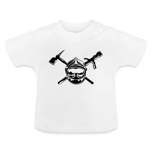 casque_pompier_hache et lance - T-shirt Bébé