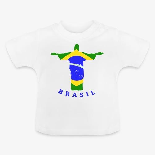 Brasil Flag Statue - Baby T-Shirt