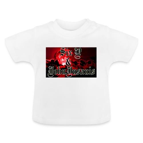 Puna-musta cap - Vauvan t-paita