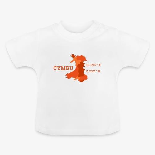 Cymru - Latitude / Longitude - Baby T-Shirt