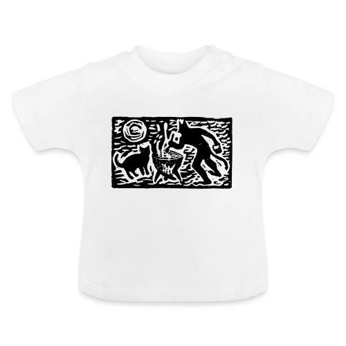 Teufel mit Katze - Baby T-Shirt