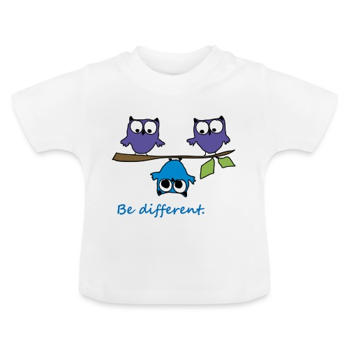 Vogel auf Ast - Be different - Baby T-Shirt