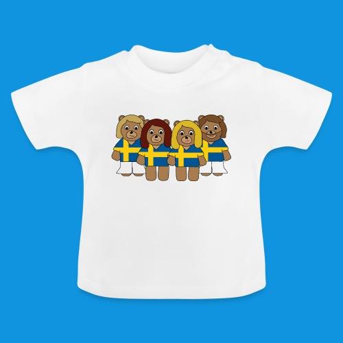 Abba Sweden Bears.png - Baby T-Shirt