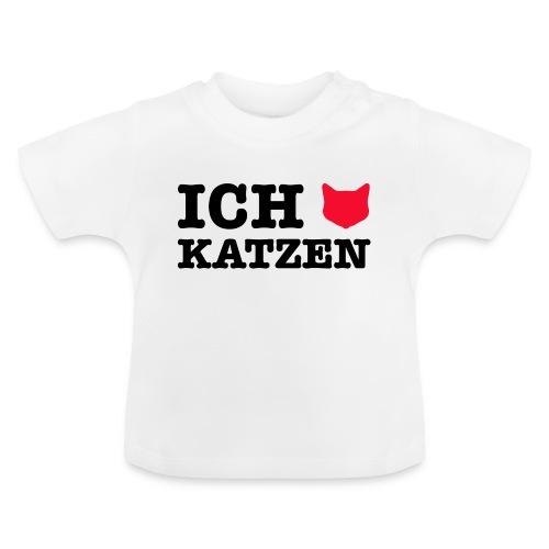 Ich liebe Katzen mit Katze als Herz - Baby T-Shirt