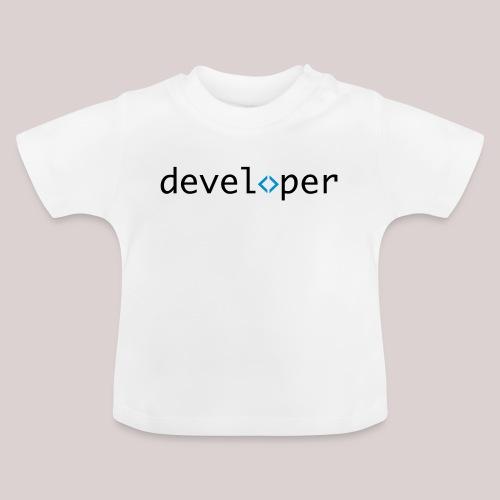 developer, coder, geek, hipster, nerd - Baby T-Shirt