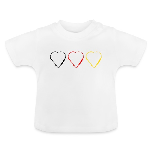 3 Herzen Deutschland #1 - Baby T-Shirt
