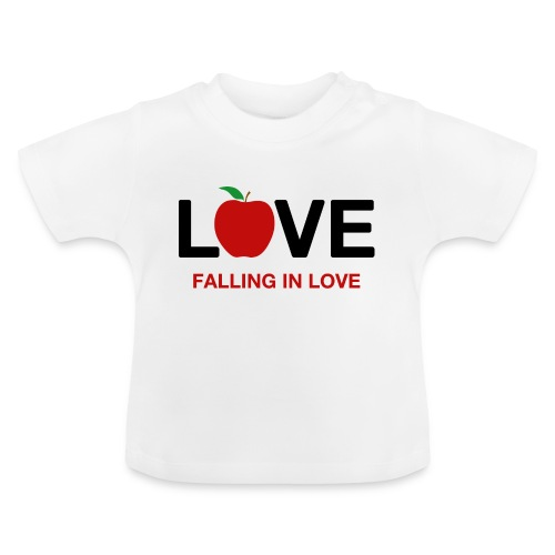 Falling in Love - Black - Baby T-Shirt