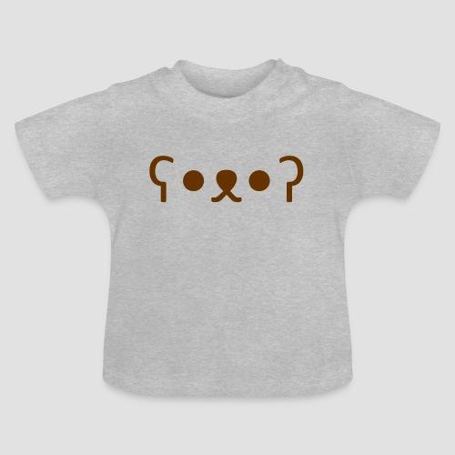 Kuma Kaomoji (Marron) - T-shirt Bébé