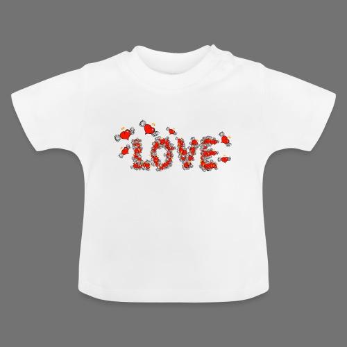 Fliegende Herzen LOVE - Baby T-Shirt