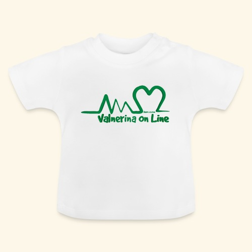 logo verde Associazione Valnerina On line - Maglietta per neonato