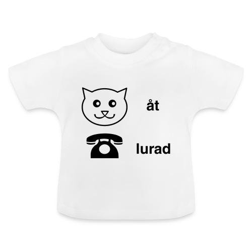 Katt åt telefon - Baby-T-shirt