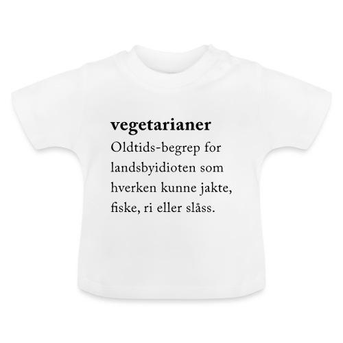 Vegetarianer definisjon - Baby-T-skjorte