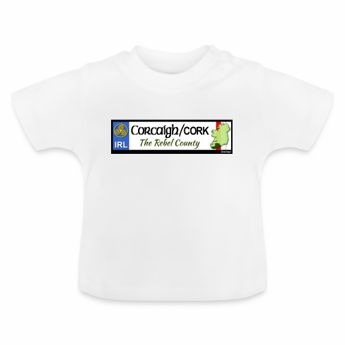CO. CORK, IRELAND: licence plate tag style decal - Baby T-Shirt
