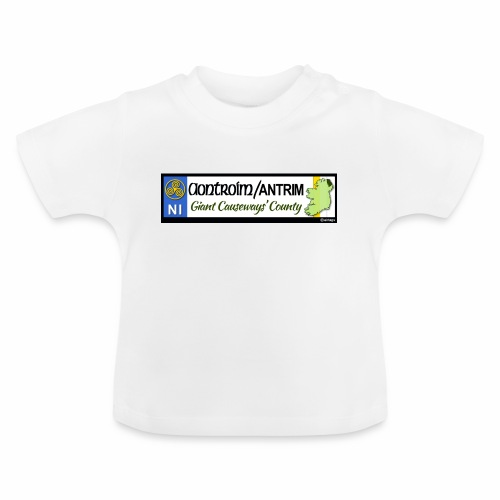 CO. ANTRIM, NORTHERN IRELAND licence plate tags - Baby T-Shirt