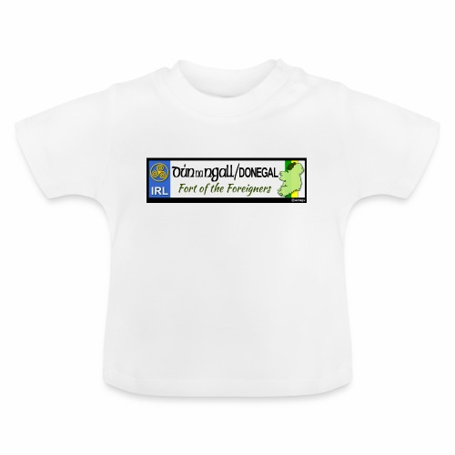 DONEGAL, IRELAND: licence plate tag style decal - Baby T-Shirt