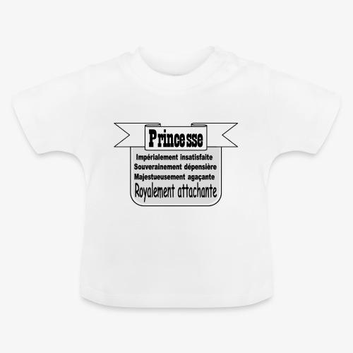 Princesse royalement attachante - T-shirt Bébé