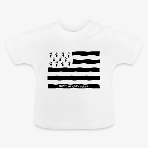 Gwenn ha Du-Noir fond transparent - T-shirt Bébé