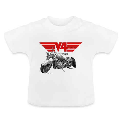 V4 Motorcycles red Wings - Baby T-Shirt