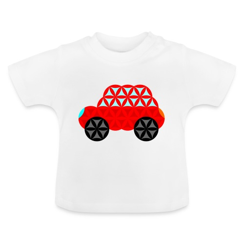 The Car Of Life - M01, Sacred Shapes, Red/R01. - Baby T-Shirt