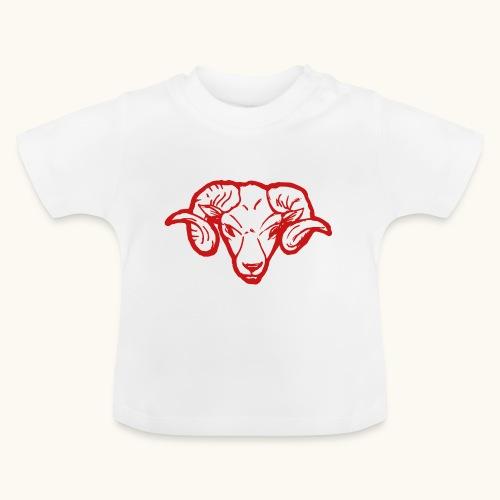 Roter Widderkopf Rammbock Geschenkidee Teufel - T-shirt Bébé