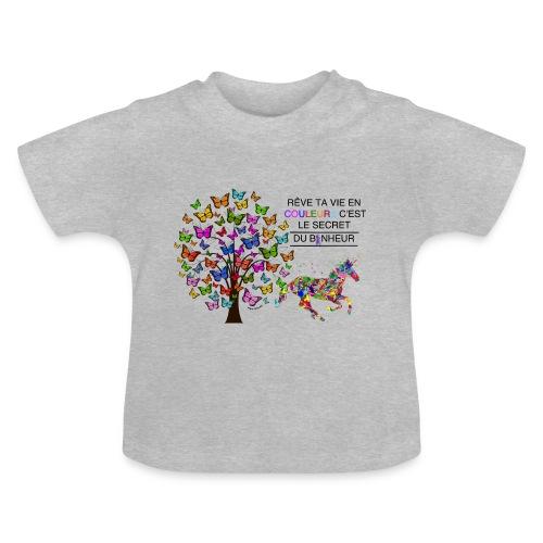 Licorne vie en couleurs - T-shirt Bébé