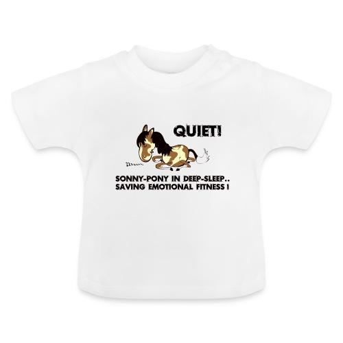 QUIET Sonny Pony in deep sleep - Baby T-Shirt
