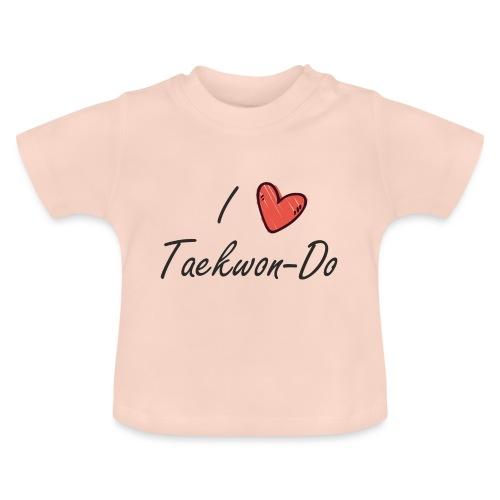 I love taekwondo letras negras - Camiseta bebé