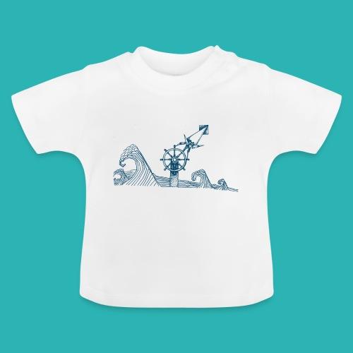 Carta_timone_blu-png - Maglietta per neonato