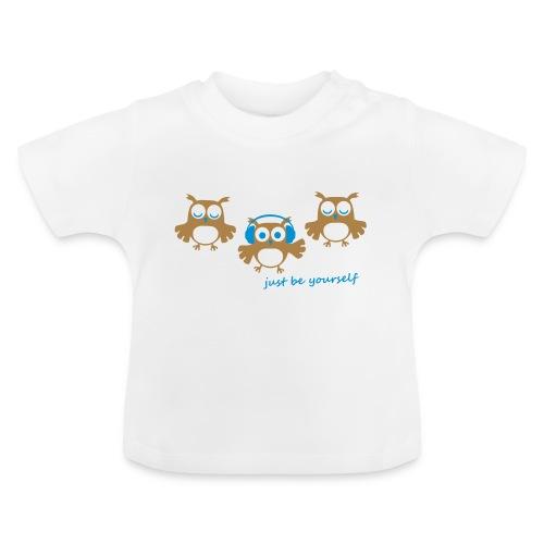 coole süße Eule tanzt Tanzen Kopfhörer Familie - Baby T-Shirt