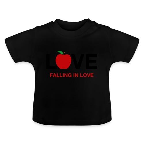 Falling in Love - Black - Baby T-Shirt