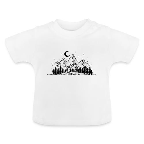 Fuchs Hase Gute Nacht Kinder Bild Geschenk - Baby T-Shirt