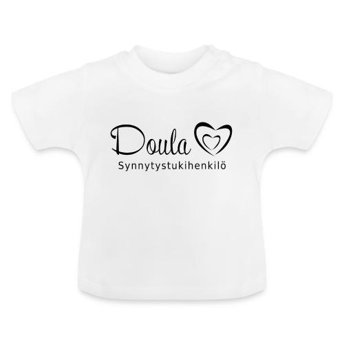 doula sydämet synnytystukihenkilö - Vauvan t-paita