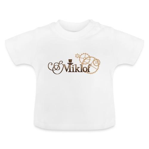 miklof logo gold wood gradient 3000px - Baby T-Shirt