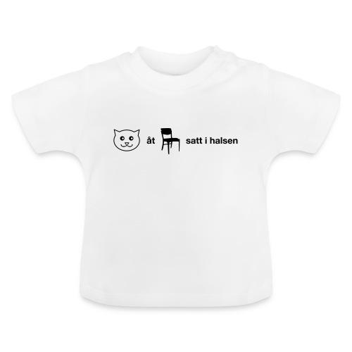 Katt åt stol - Baby-T-shirt