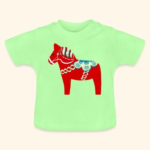 Röd dalahäst - Baby-T-shirt