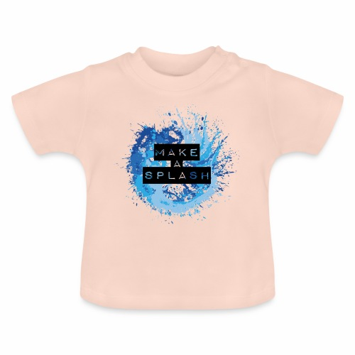 Make a Splash - Aquarell Design in Blau - Baby T-Shirt