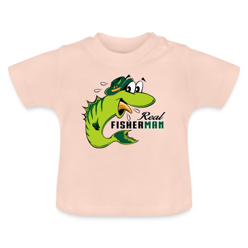 10-38 REAL FISHERMAN - TODELLINEN KALASTAJA - Vauvan t-paita
