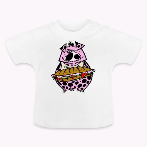pig vs pig col - Maglietta per neonato