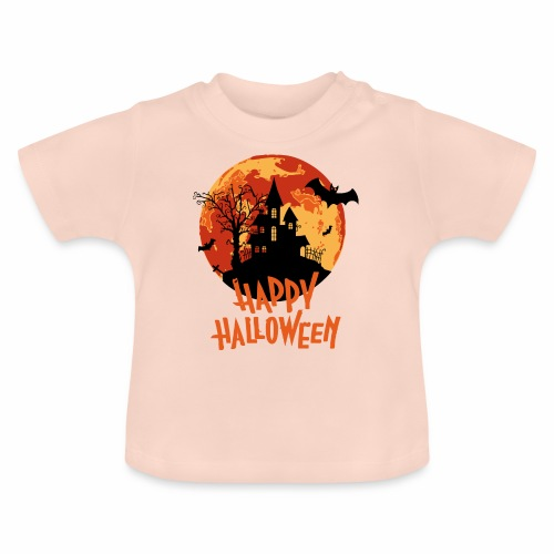 Bloodmoon Haunted House Halloween Design - Baby T-Shirt