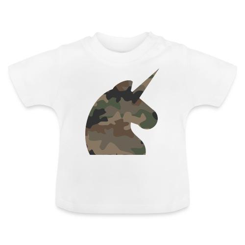 Einhorn T Shirt Männer Camouflage Army Style - Baby T-Shirt