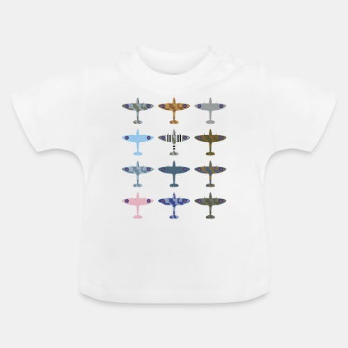 Spitfire fighter plane / camouflage pattern - Baby T-Shirt