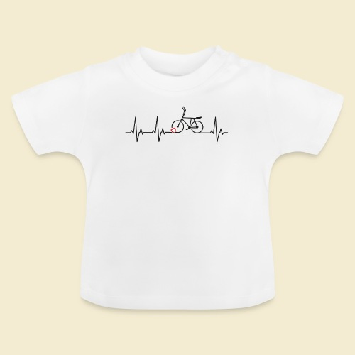 Radball | Heart Monitor Black - Baby T-Shirt