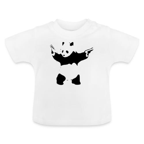 oso panda pistolas - Camiseta bebé