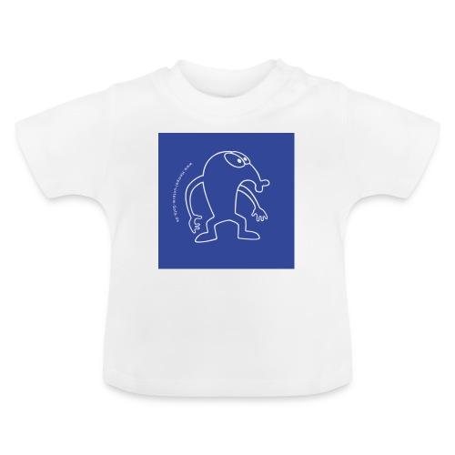 button vektor blau - Baby T-Shirt