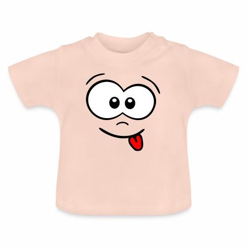 Gesicht Zunge rausstrecken - Baby T-Shirt