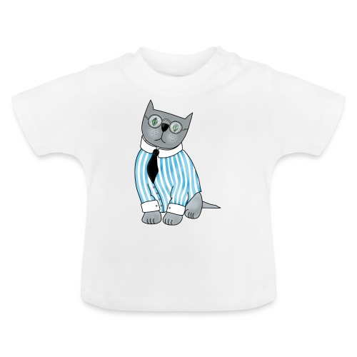 Cat with glasses - Baby T-Shirt