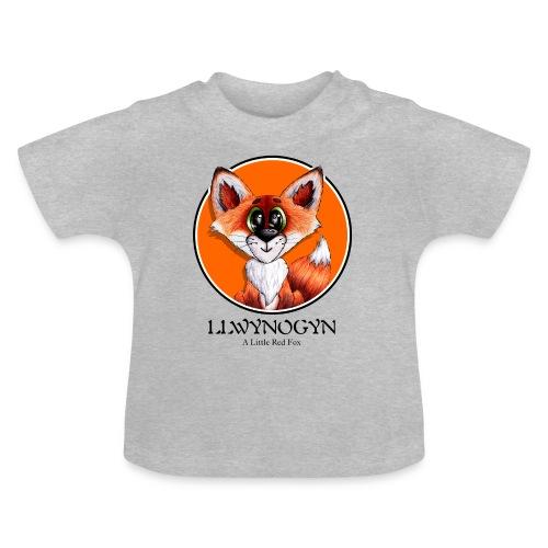 llwynogyn - a little red fox (black) - Baby T-shirt