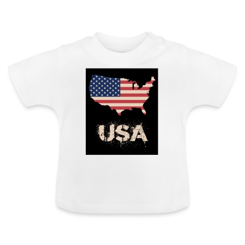 USA FLAG 4th of July With Flag - Baby-T-shirt