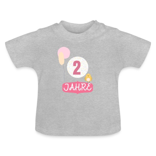 2 Jahre // Geschenk zum 2. Geburtstag - Baby T-Shirt