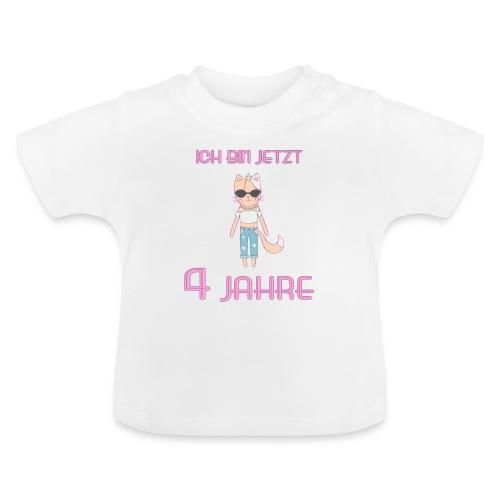 Ich bin jetzt 4 Jahre / Geschenk zum 4. Geburtstag - Baby T-Shirt
